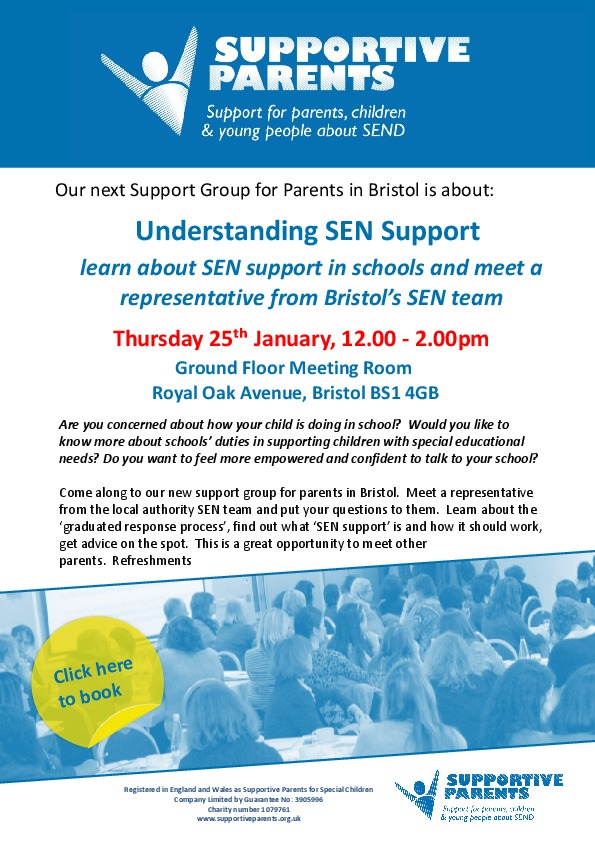 Bristol support group poster for 25th jan 2018 1