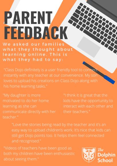 Online learning   parent feedback