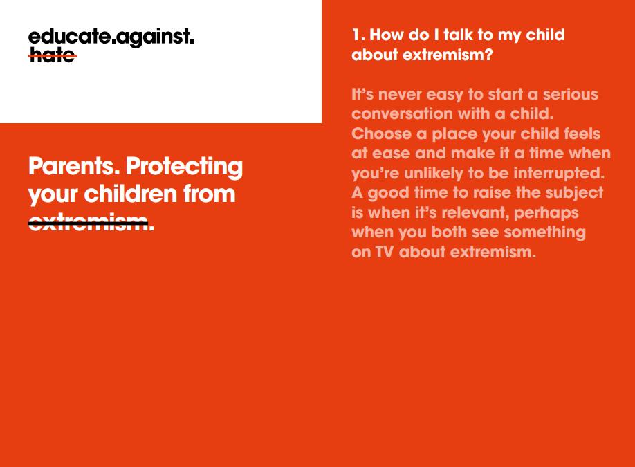 Prevent parent booklet