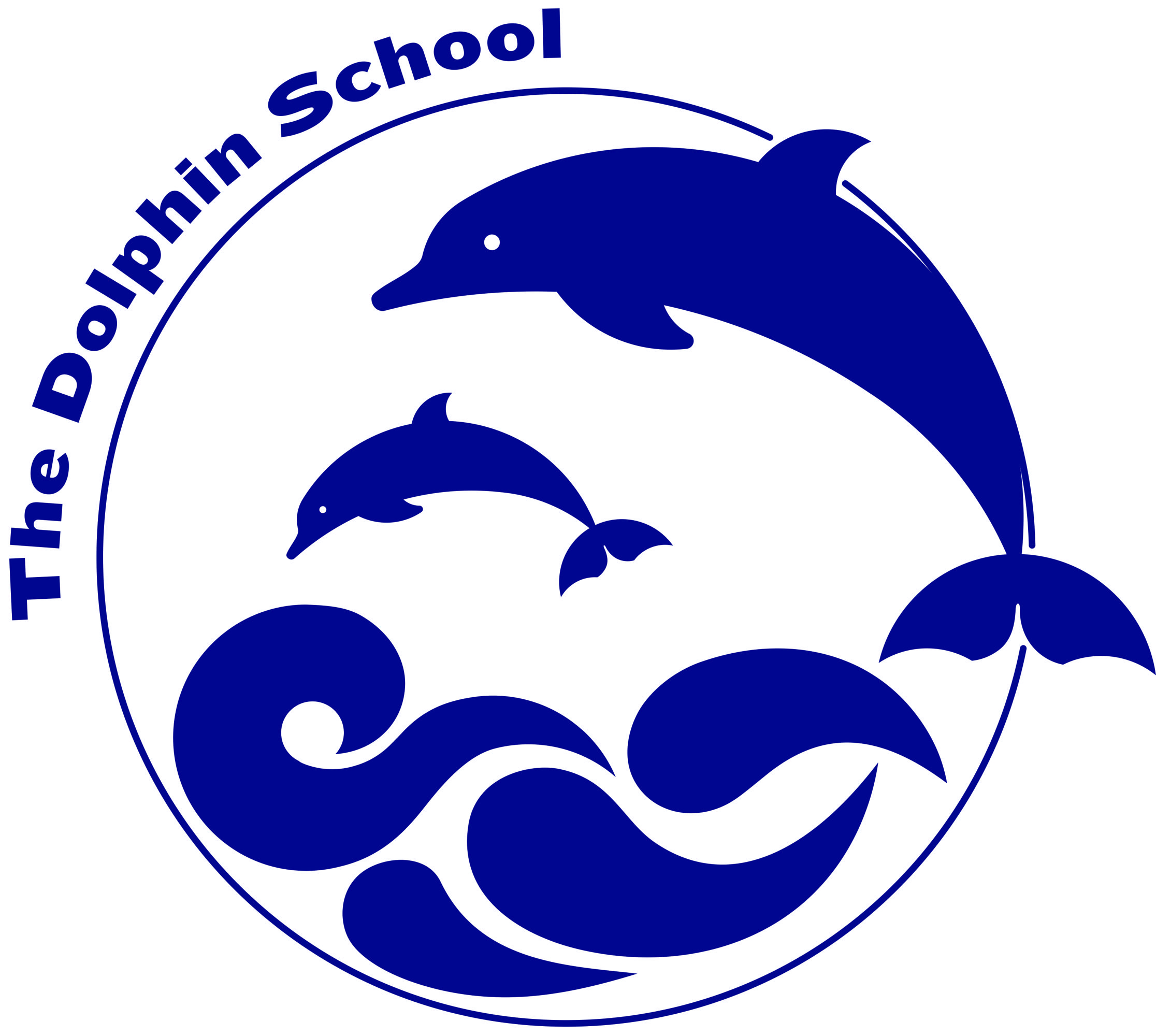 Dolphin School Logo Navy Blue 0321